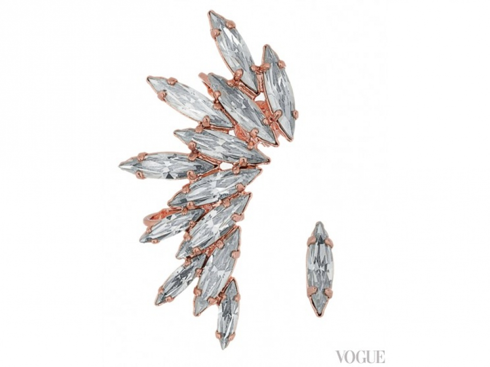 Серьги, металл, кристаллы, Ryan Storer