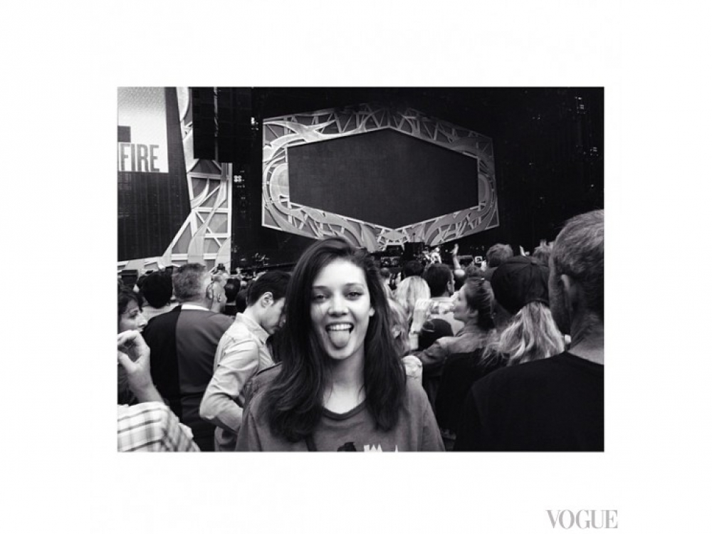 Диана Молдован на концерте The Rolling Stones в Париже