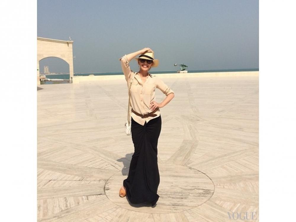 Кайли Миноуг посетила знаменитый катарский амфитеатр, расположенный в Дохе
