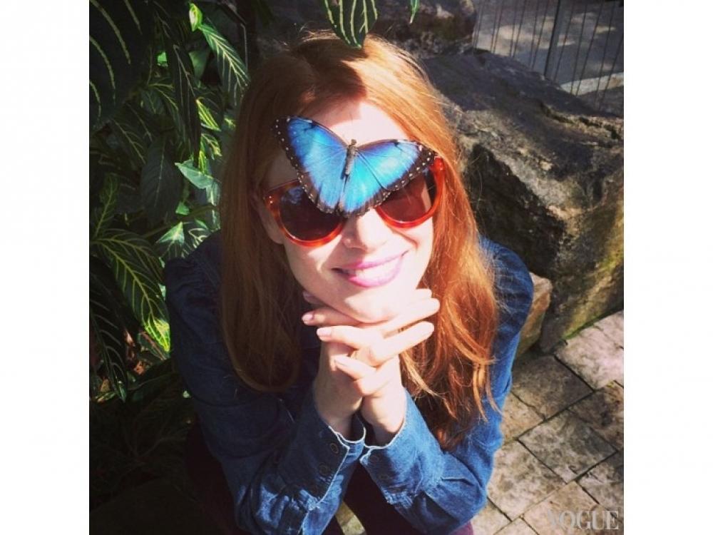 Джессика Честейн на прогулке возле Ниагарского водопада