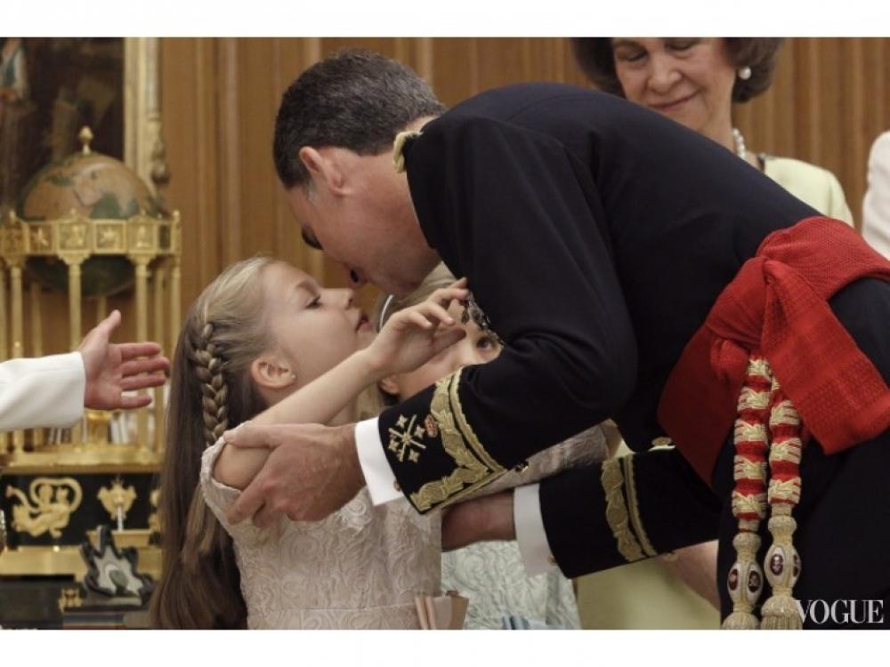 Принцесса Леонор и король Фелипе VI