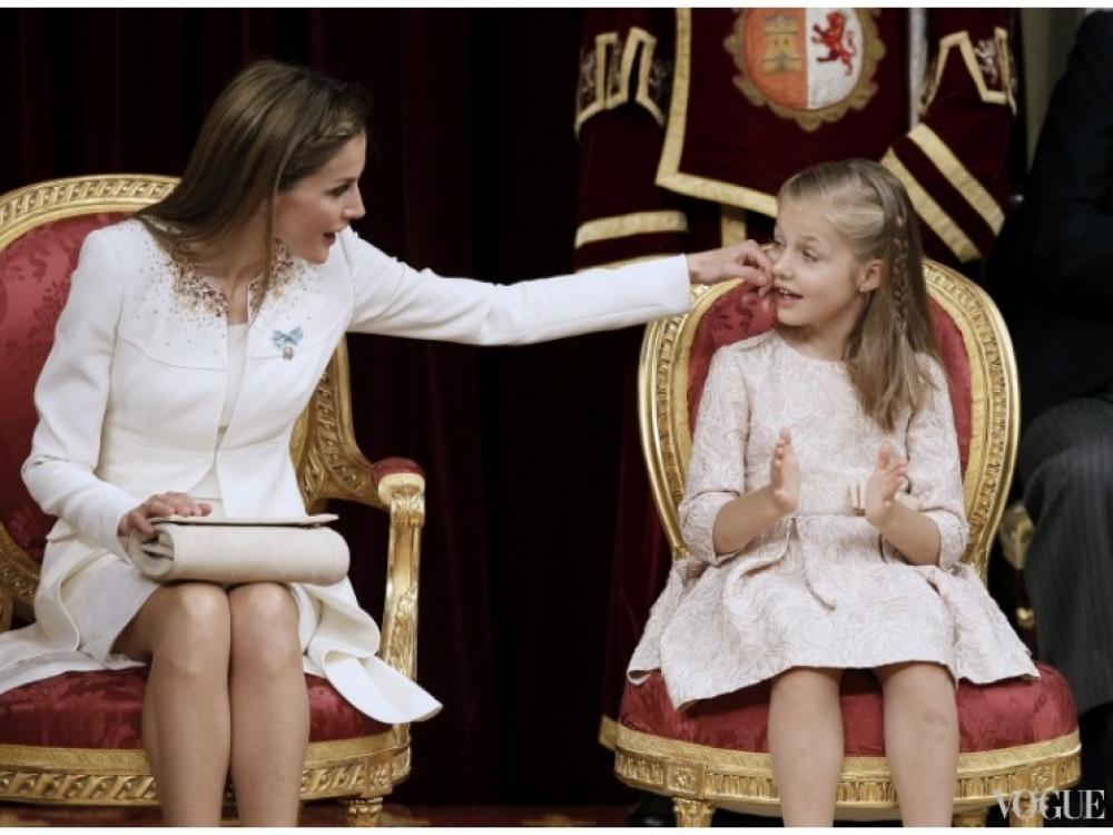 Королева Летиция и принцесса Леонор