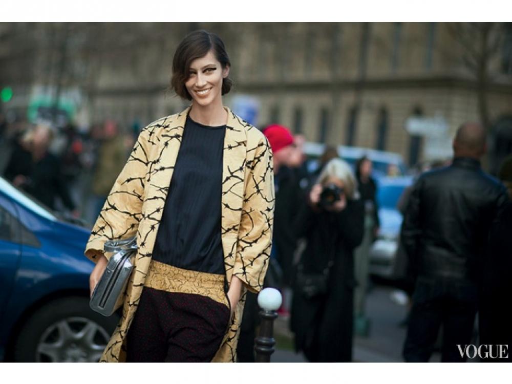 Гостья Парижской недели моды в Dries Van Noten