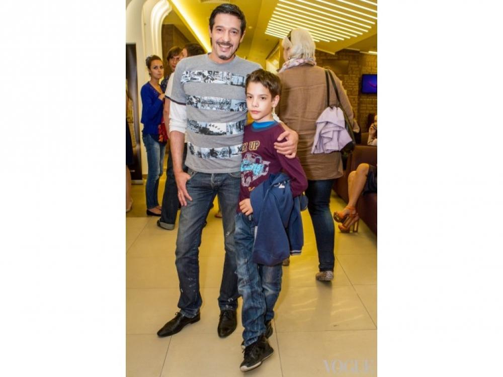 Максим Нелипа с сыном