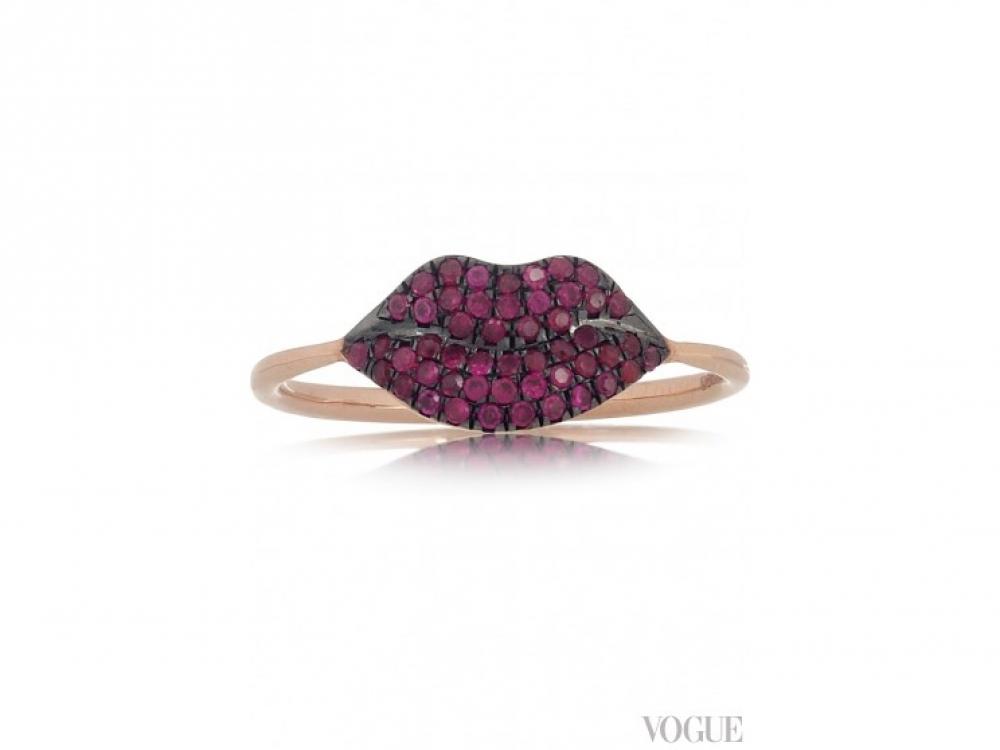 Кольцо из розового золота с рубинами, Diane Kordas