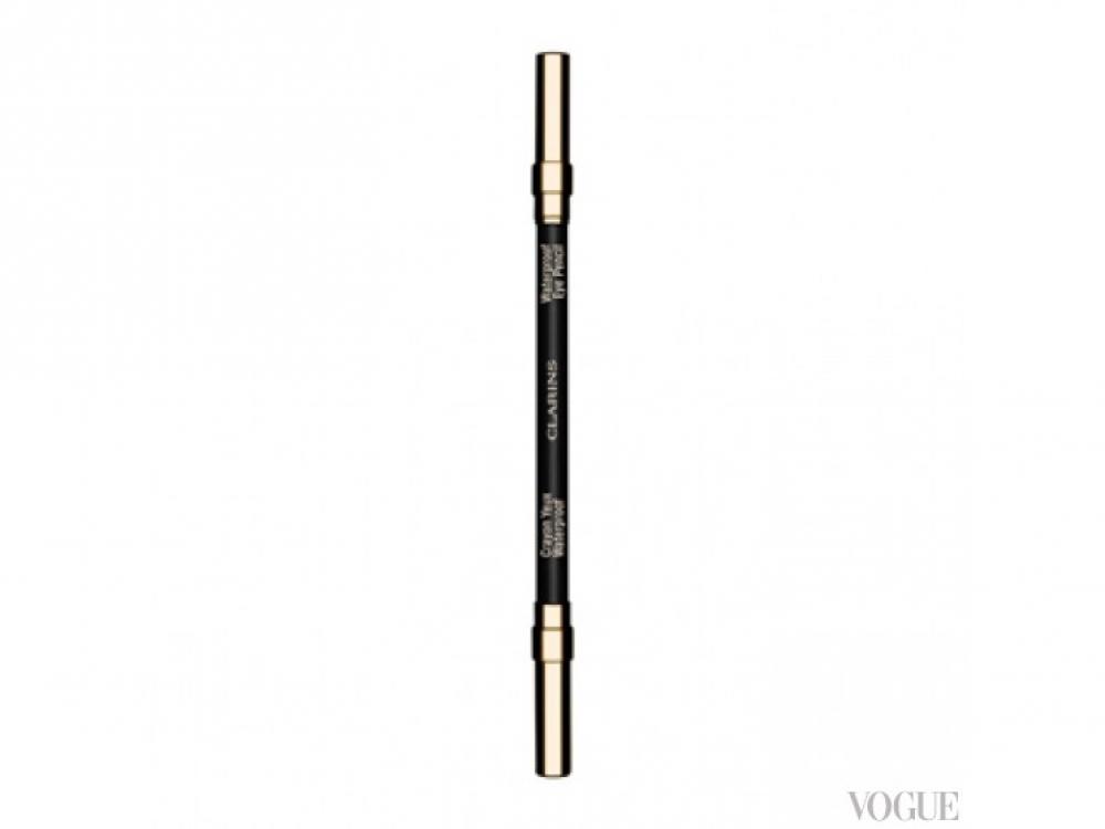 Водостойкий карандаш для глаз, №01 Black, Clarins