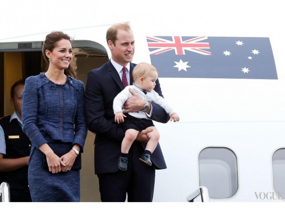 Монаршая семья прощается с новзеландцами перед отправкой в Австралию во время их новозеландско-австралийского турне, апрель 2014 года