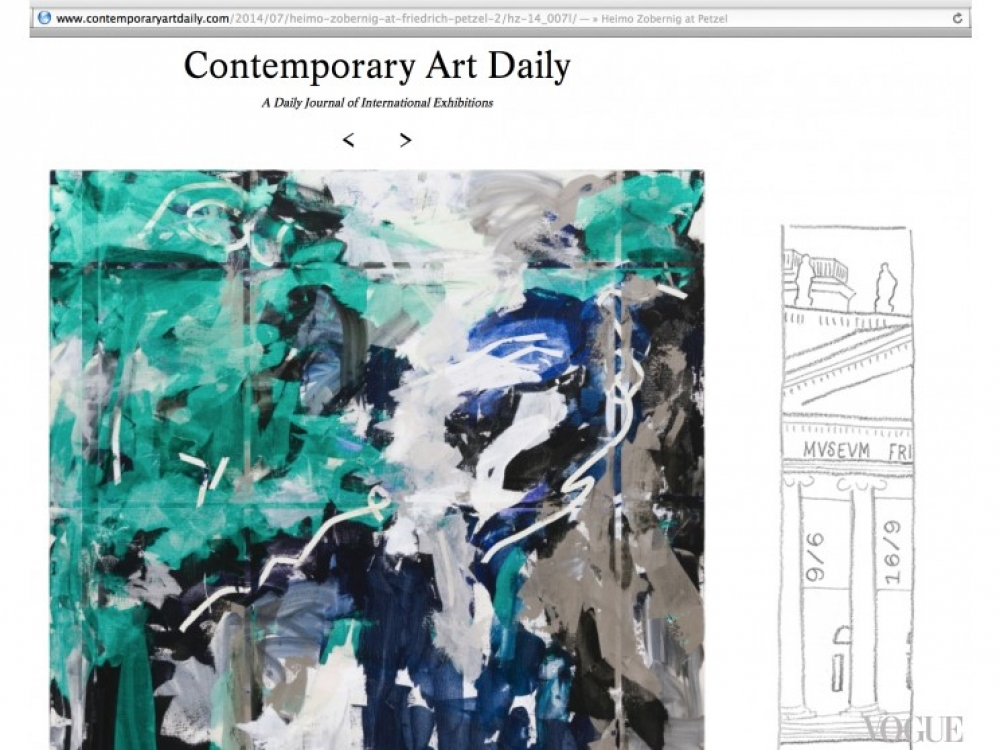 Интерфейс contemporaryartdaily.com