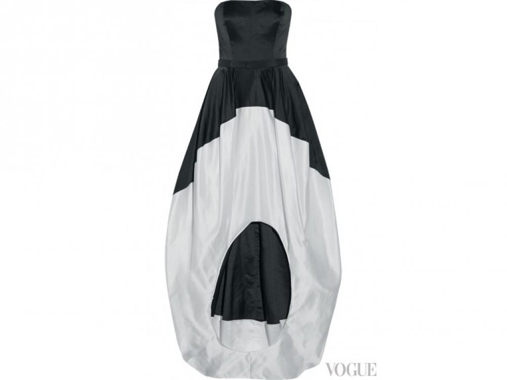 Платье из атласа и тафты, Oscar de la Renta