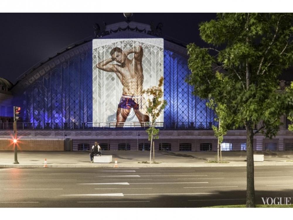 Рекламная кампания коллекции нижнего белья Криштиану Роналду в Мадриде