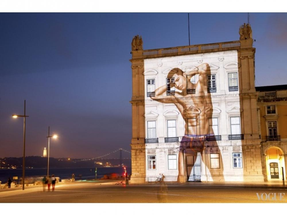 Рекламная кампания коллекции нижнего белья Криштиану Роналду в Лиссабоне