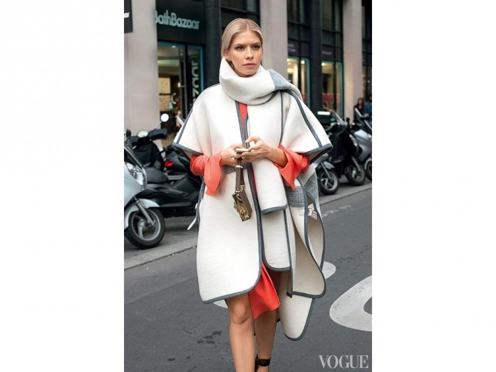 Модель Елена Перминова в Chloe, Париж