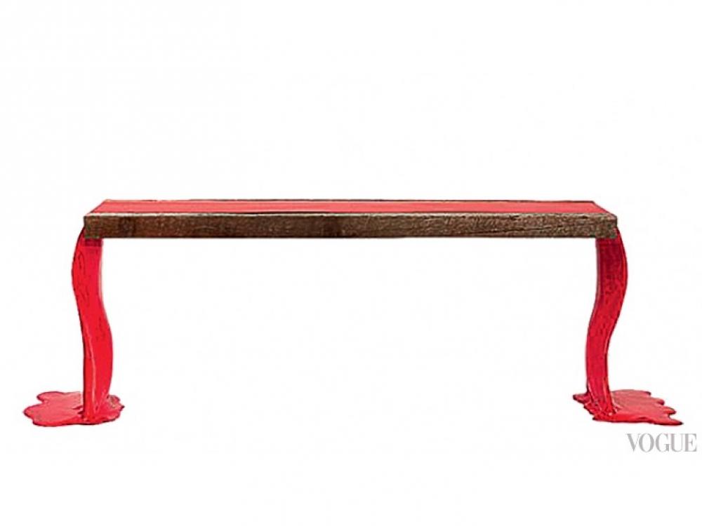 Присетнный столик из дерева, William T. Georgis для Maison Gerard