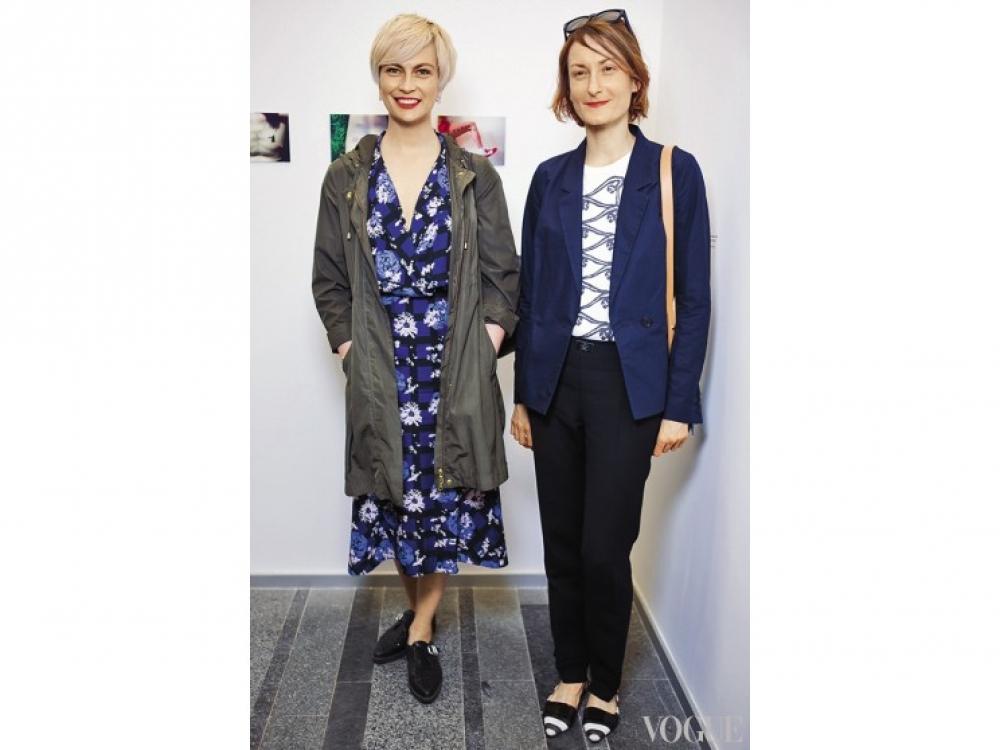 Главный редактор Vogue Украина Маша Цуканова и обозреватель отдела Vogue Украина Татьяна Соловей