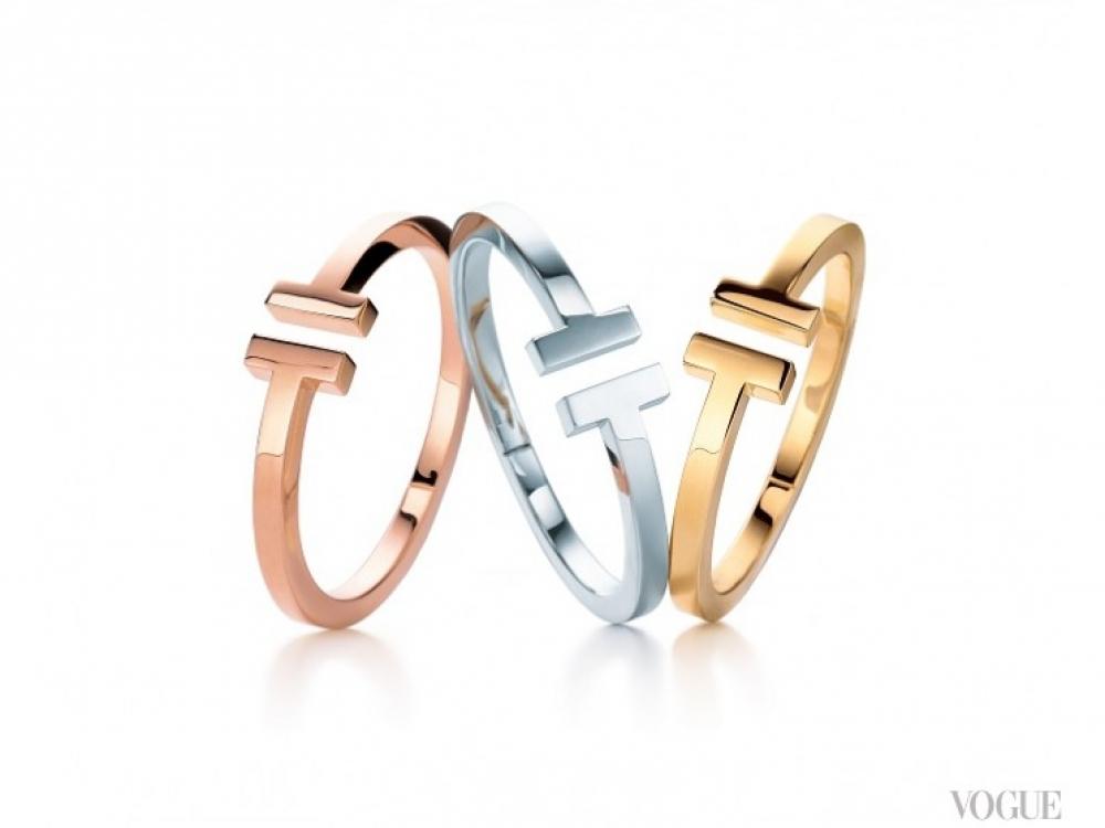 Браслеты, розовое, желтое золото, серебро |Tiffany T