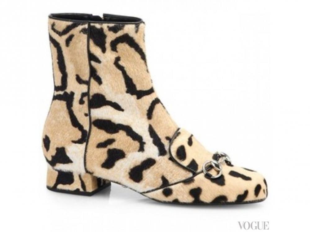 Ботинки из шерсти пони, Gucci
