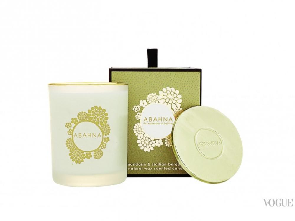 Восковая ароматическая свеча с ароматом грейпфрута, Abahna, 988 грн.