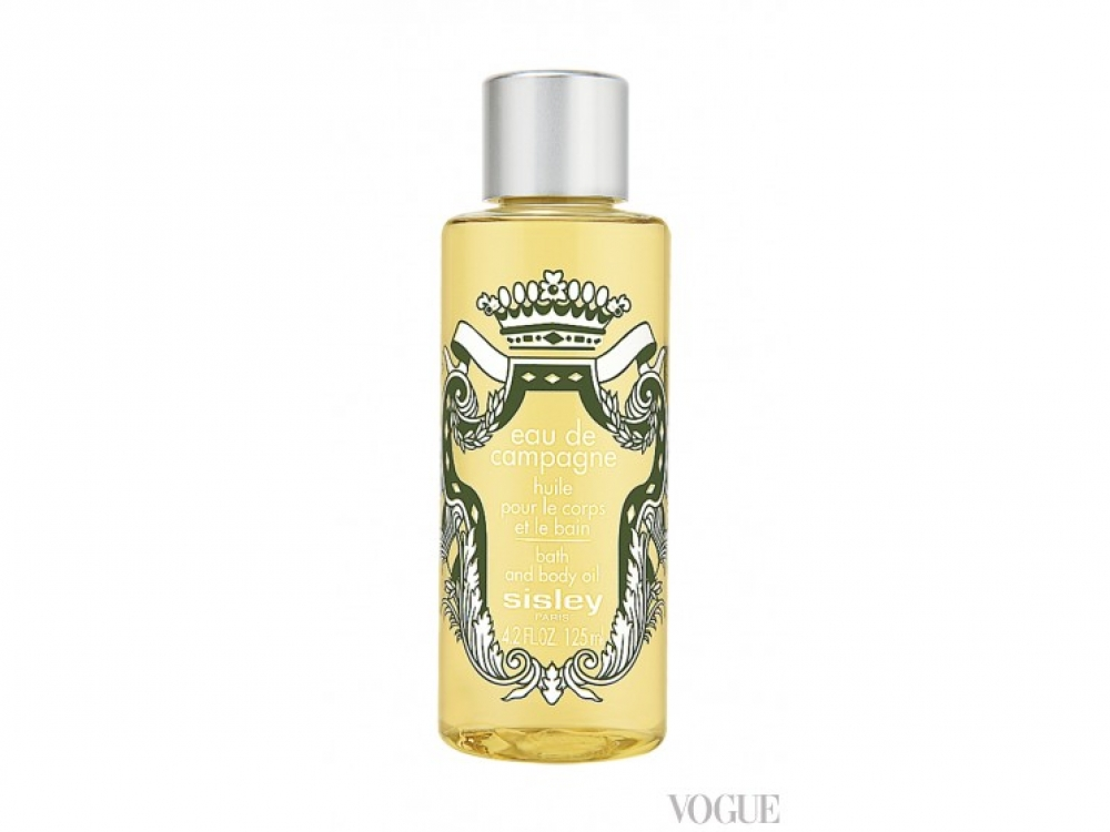 Успокаивающее масло для ванны Eau de Campagne с экстрактами зверобоя, календулы и боярышника, Sisley, 1110 грн.