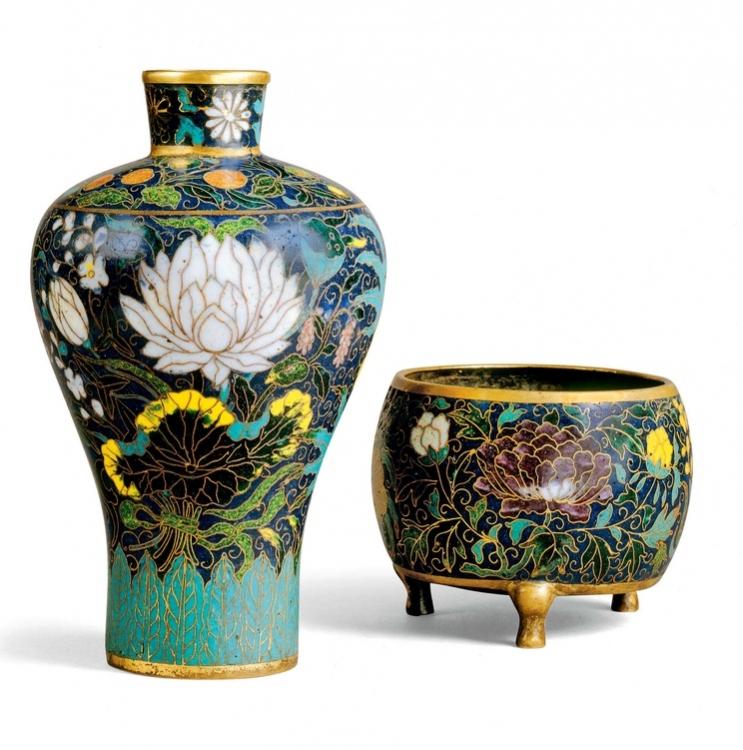 Китайские вазы династии Янь и Минг 2-й половины XIV века