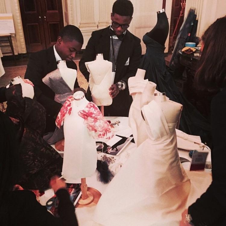 Студенты на мастер-классе в Белом Доме