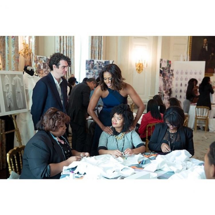 Мишель Обама на мастер-классе в Белом Доме