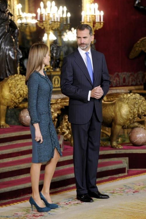 Королева Летиция и король Фелипе VI