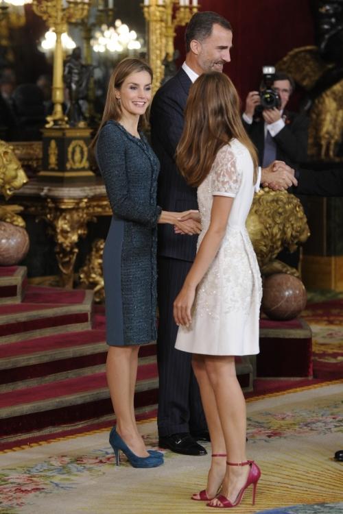 Королева Летиция, Мишель Дженнер и король Фелипе VI