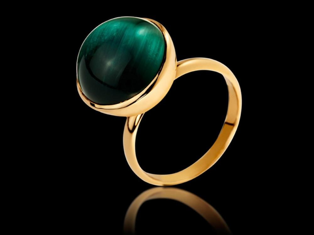 Кольцо Cosmic Desire, желтое золото и турмалин, Nathalie Sevikian