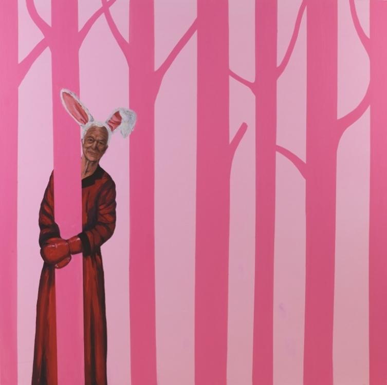 «Следуй за Белым Кроликом», масло, холст, 153 x 153 см, 2014