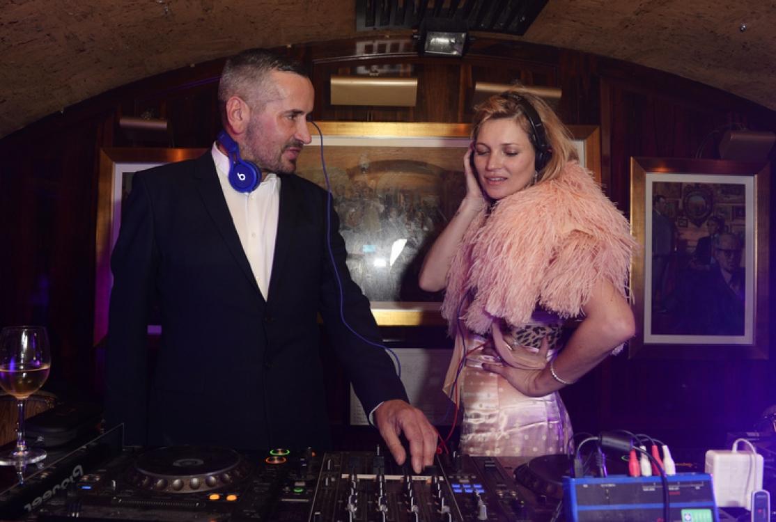 Диджей Fat Tony и Кейт Мосс