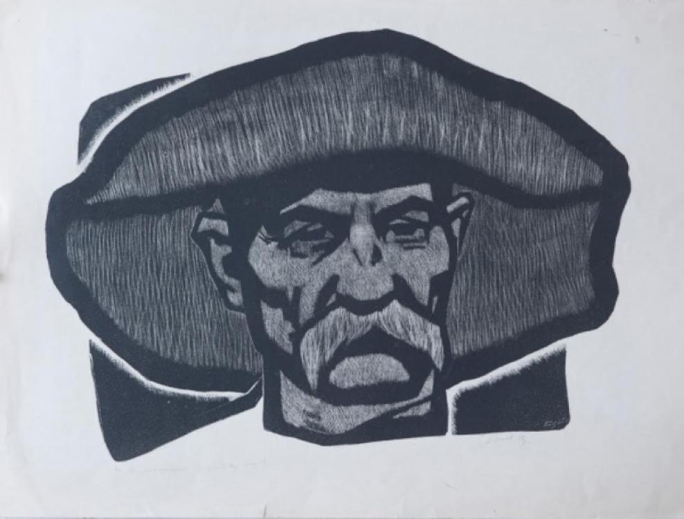 """Николай Попов """"Старый доменщик"""", 1966."""