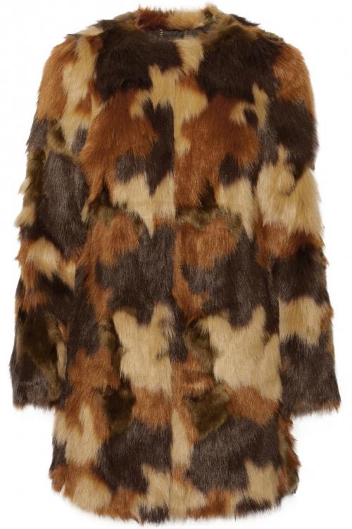 Пальто из искусственного меха с эффектом камуфляжа, Michael Michael Kors