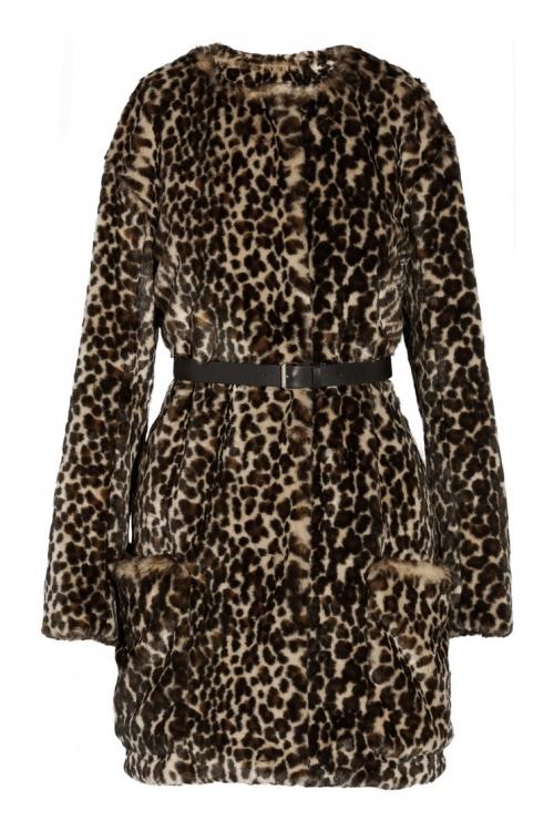 Плюшевая леопардовая шуба, Nina Ricci