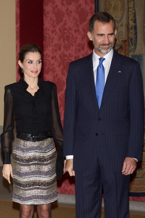Королева Испании Летиция и король Испании Фелипе