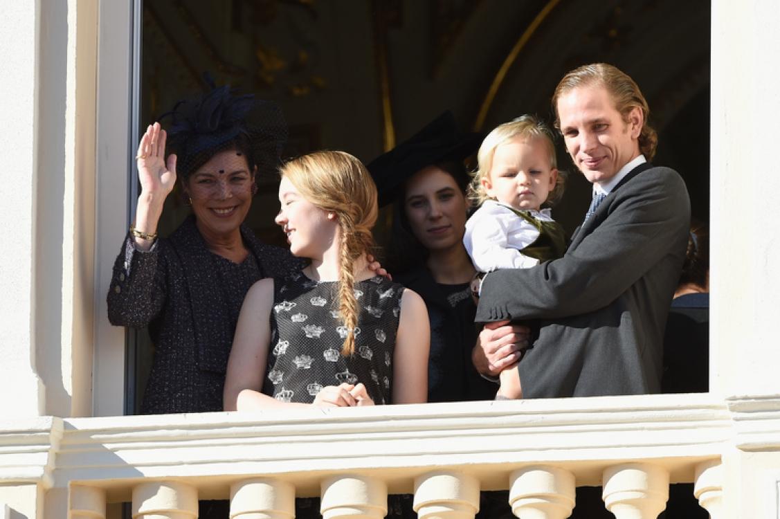 Принцесса Каролина, принцесса Александра, Саша и Андреа Казираги