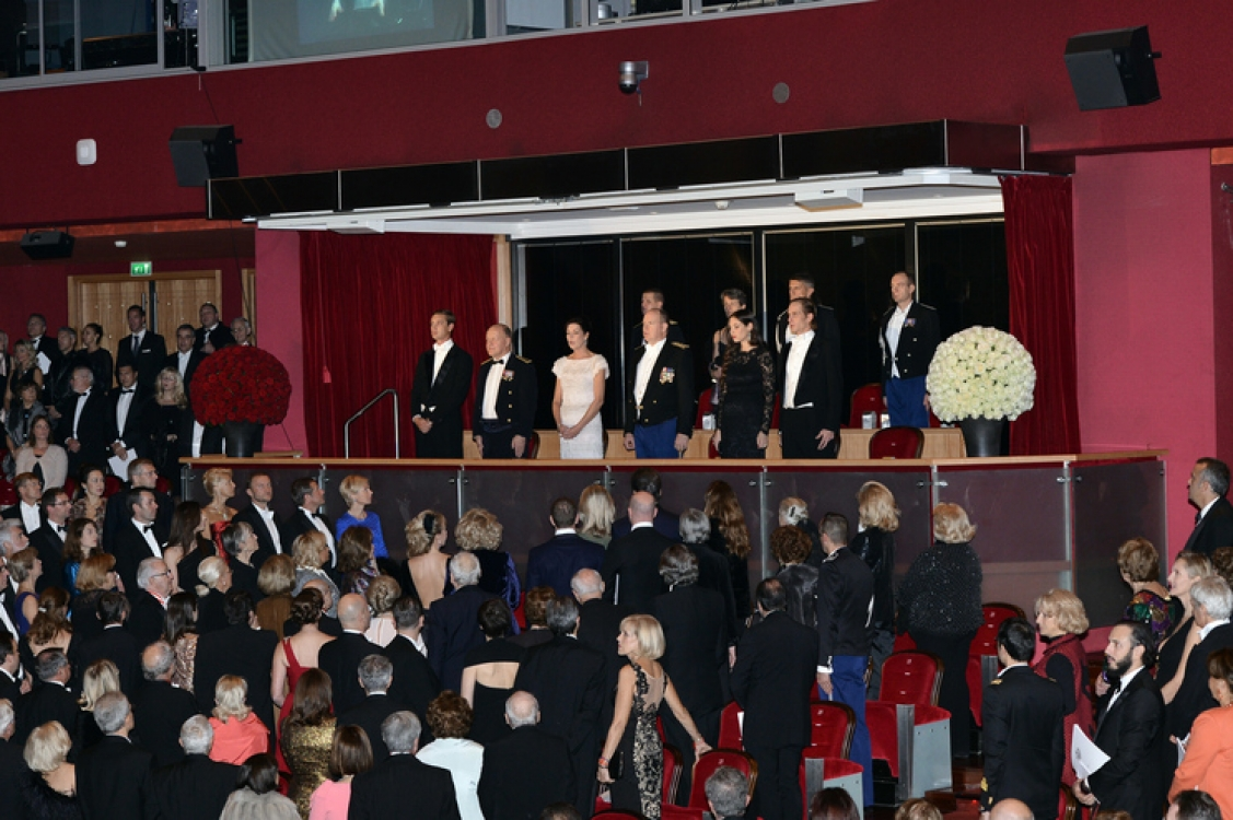 Княжеская семья в опере Монте-Карло