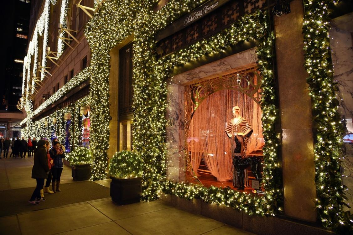 Рождественские витрины Sak's Fifth Avenue