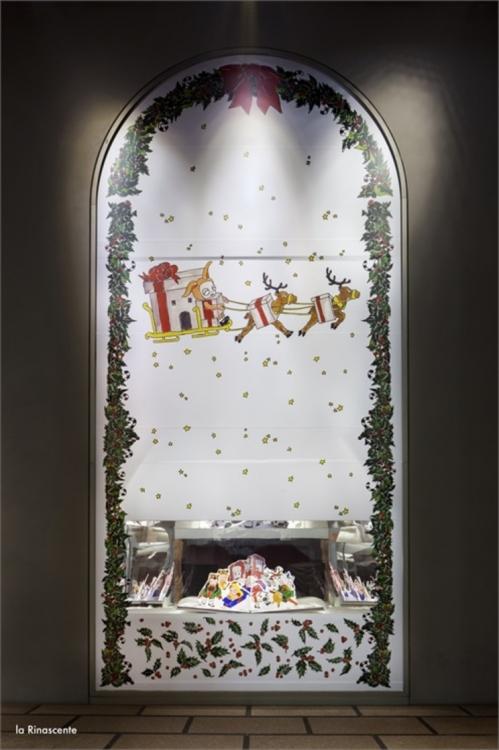 Рождественские витрины La Rinascente