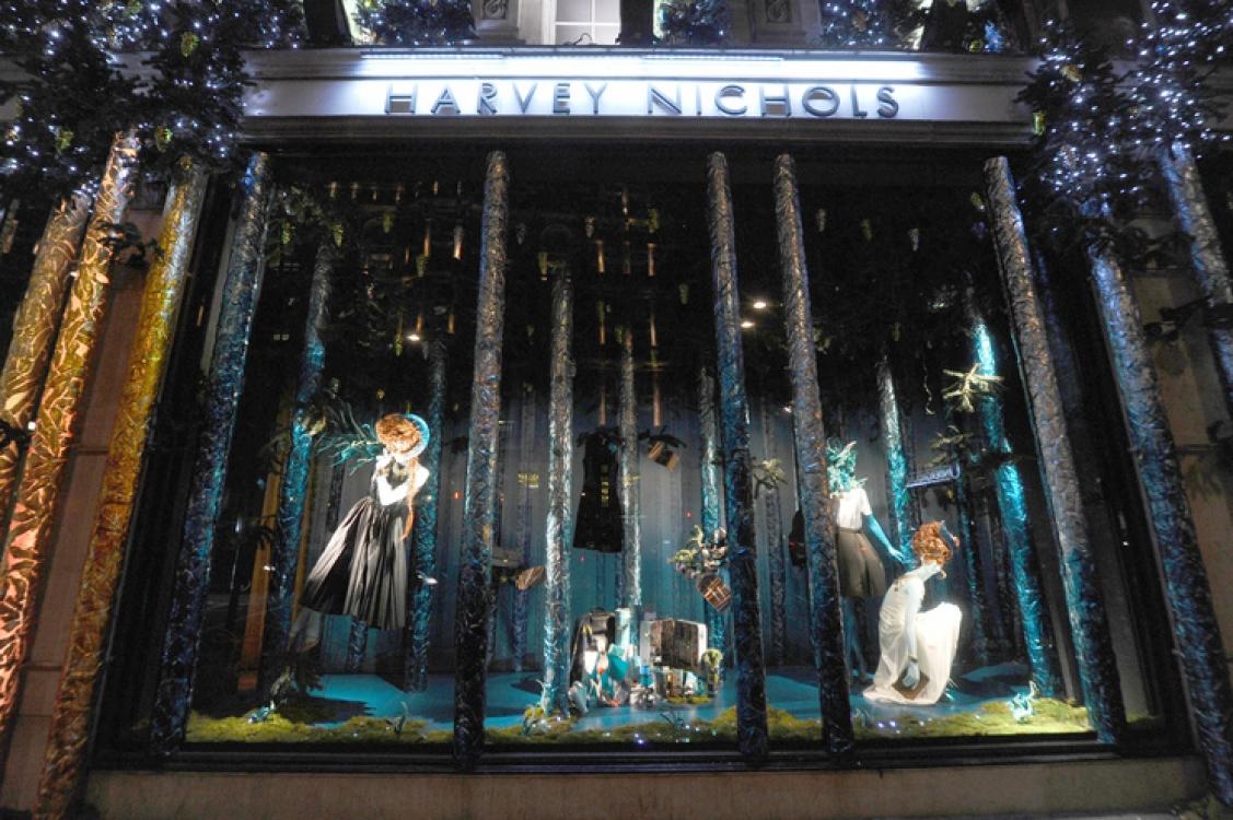 Рождественские витрины Harvey Nichols