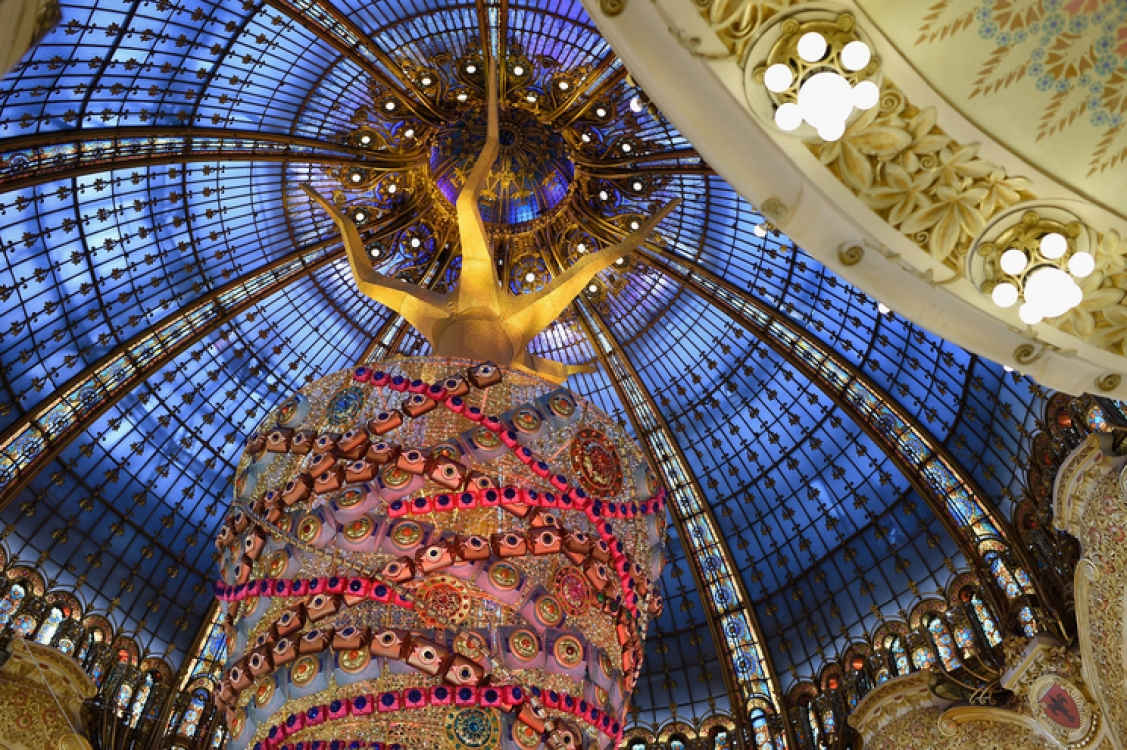 Рождественская елка Galeries Lafayette