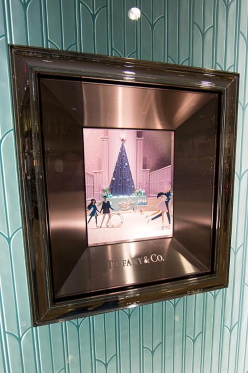 Праздничные витрины Tiffany в Нью-Йорке
