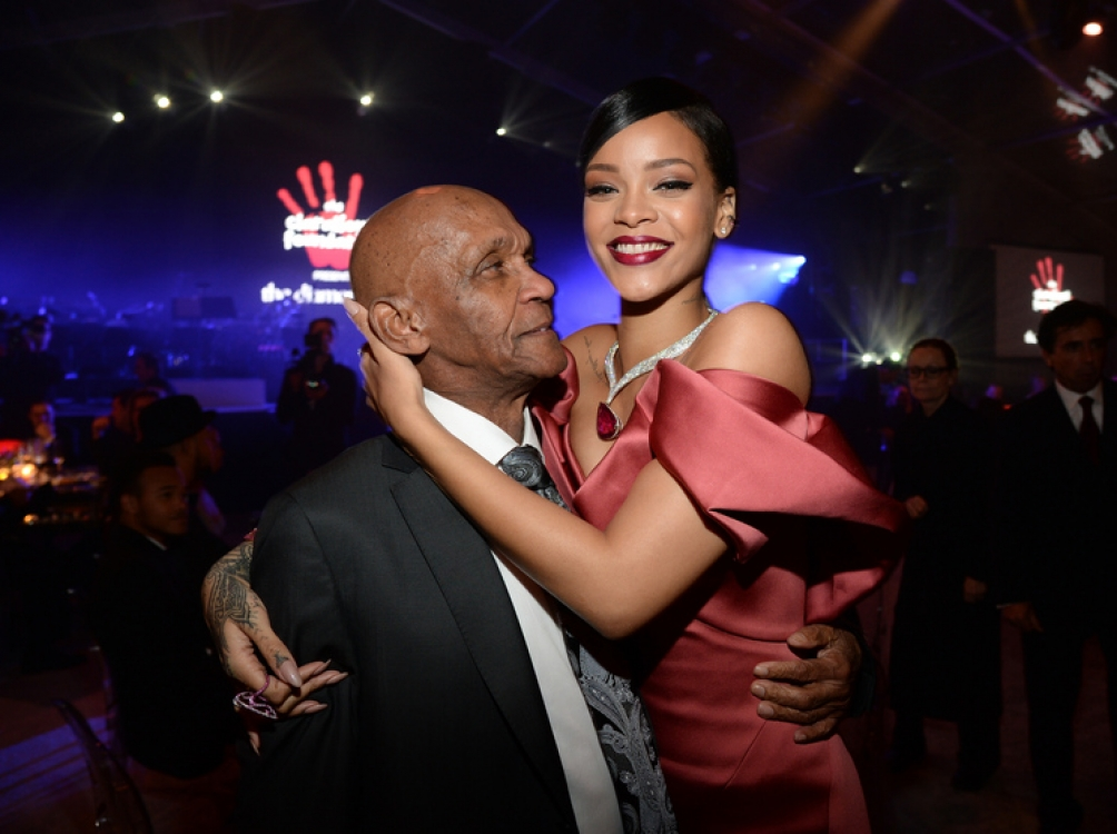 Рианна с дедушкой