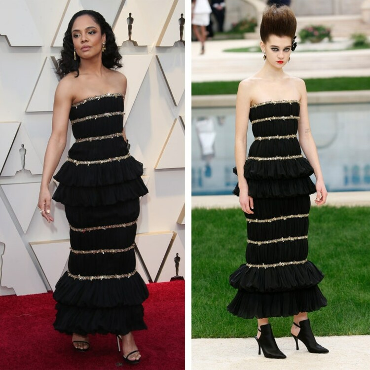 Тесса Томсон в платье Chanel Couture, Oscar 2019