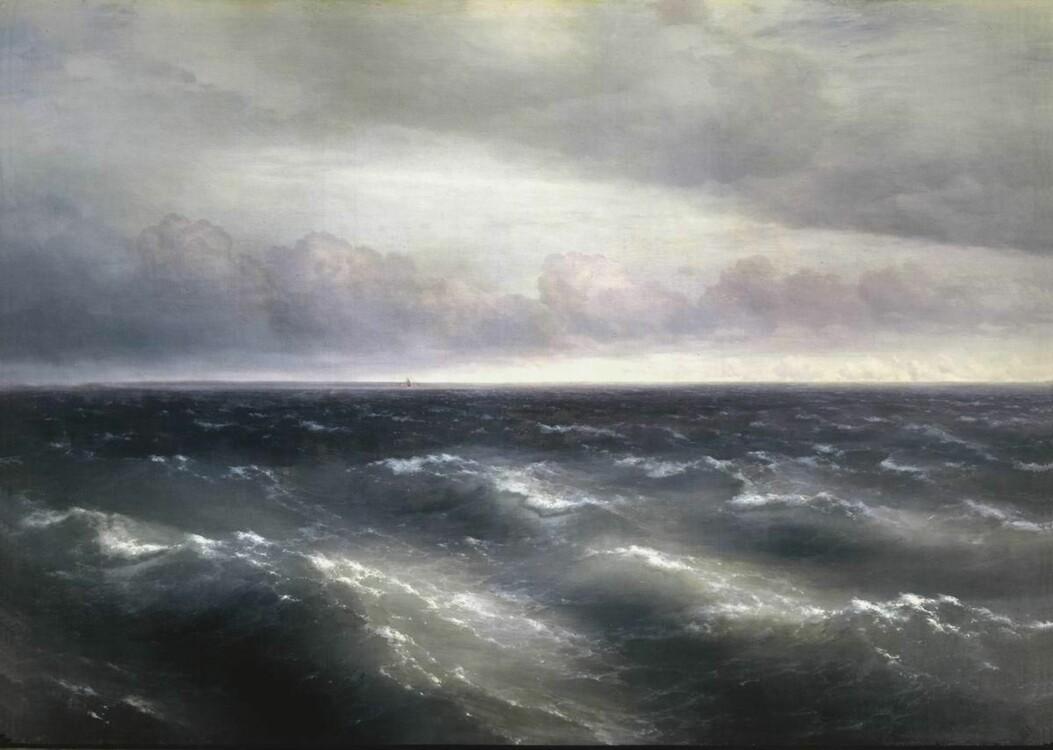 Айвазовский картины «Черное море», 1881 (Государственная Третьяковская галерея, Москва)