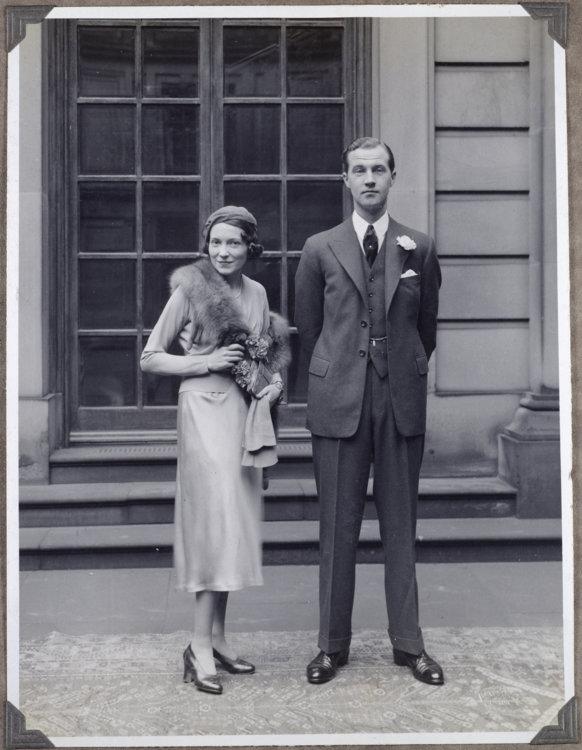 Лорд Чарльз Кавендиш и Адель Астер в день свадьбы, 1932 год (copyright Devonshire Collection, Chatsworth)
