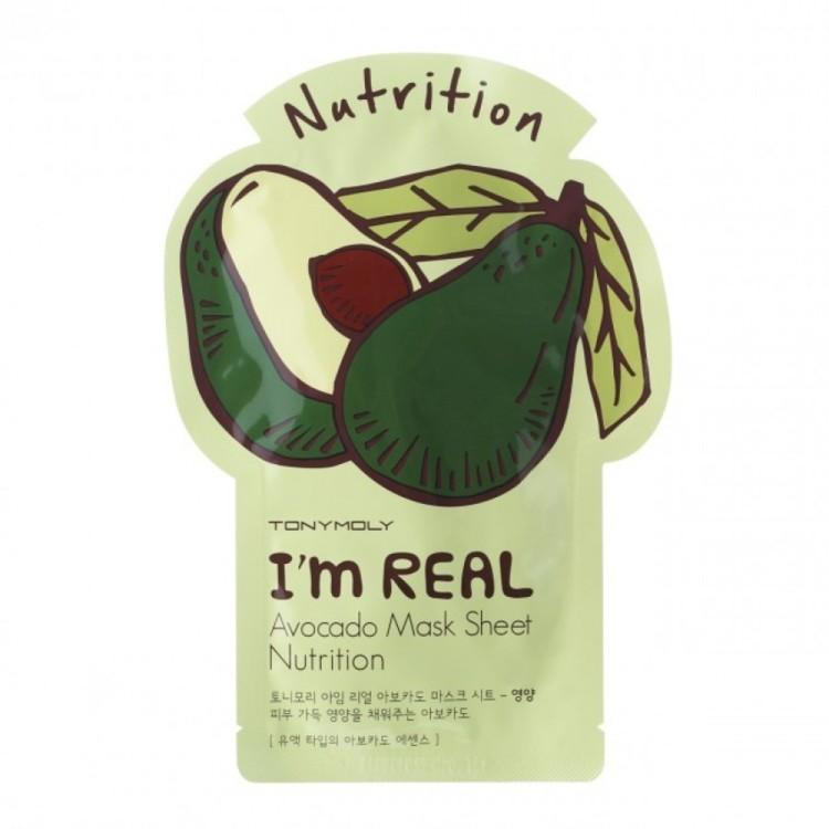 Питательная маска-патч с авокадо I'm Real, Tony Moly