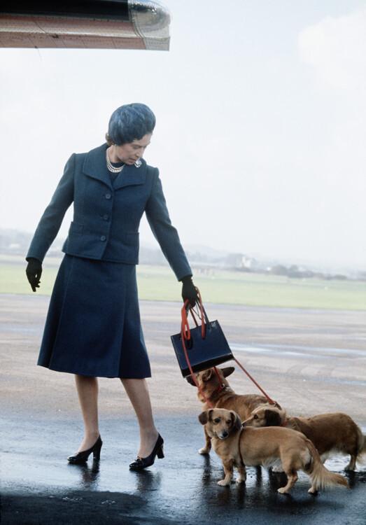 Єлизавета II в аеропорту Абердіна 1974 року