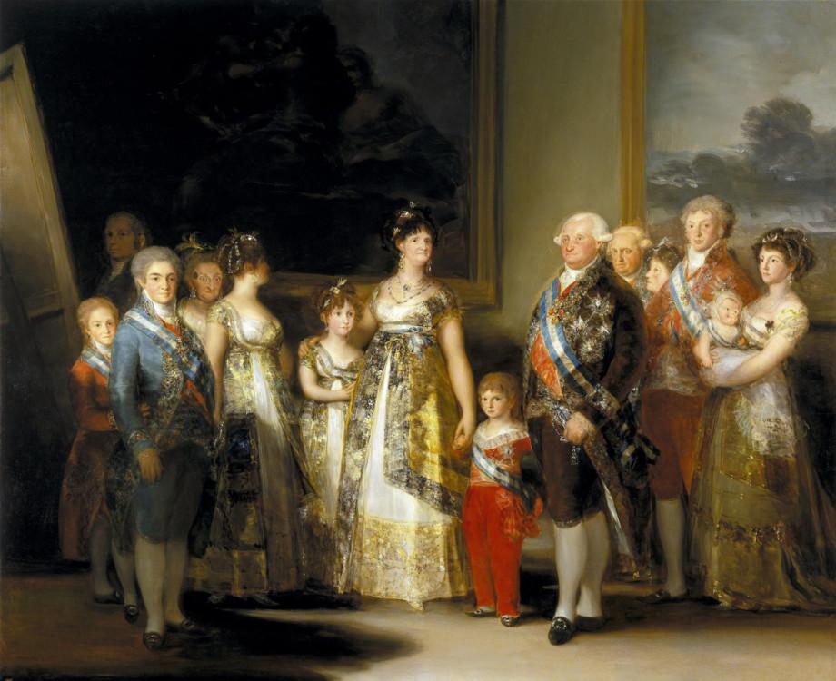 «Король Испании Карл IV и его семья», 1800 (Национальный музей Прадо, Мадрид)