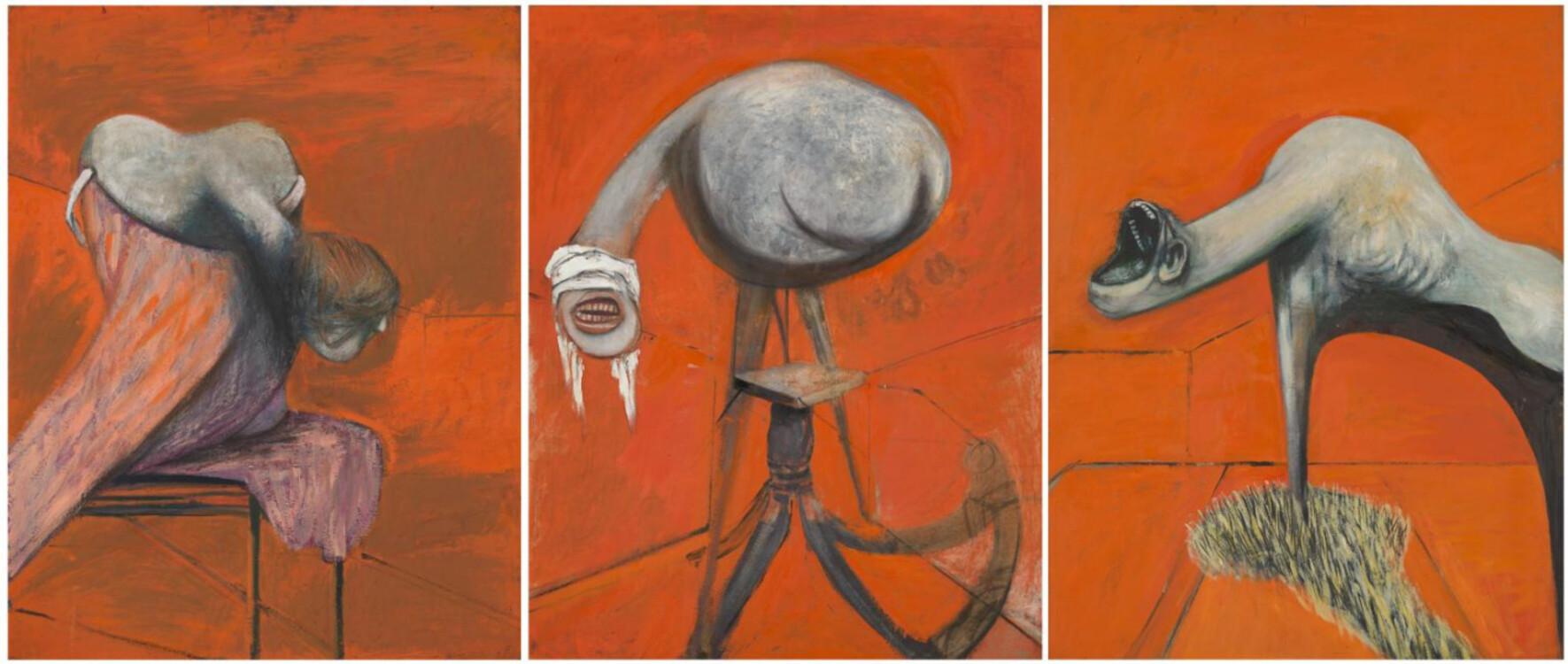 «Три этюда к фигурам у подножия распятия», 1944 (Тейт Британия, Лондон)