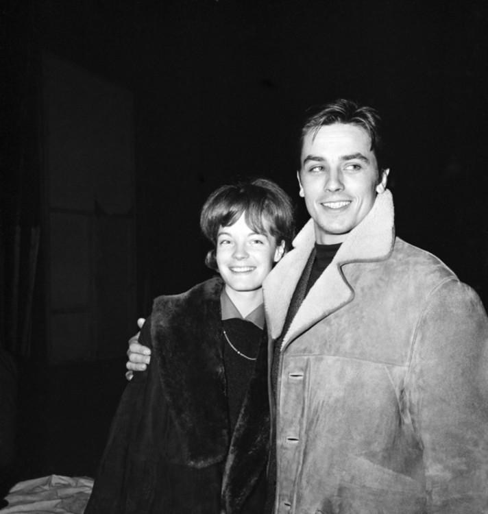 Роми Шнайдер и Ален Делон, 1961 год